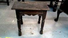 TABLE D'APPOINT STYLE ESPAGNOL CHENE BRUN Jette