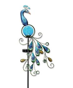 This Peacock Solar Garden Stake is perfect! #zulilyfinds