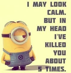 I may look calm. But in my head I've killed you about 5 times