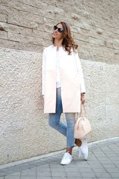 Look: White & Pink Coat - elblogdesilvia - Trendtation