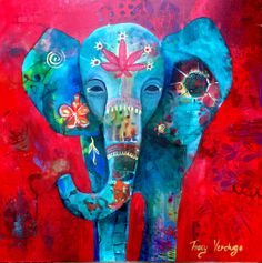 "Tracy Verdugo. 2014. Love Child. 30x30"".acrylic on canvas. Sold.http://artoftracyverdugo.blogspot.com"