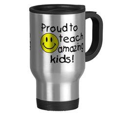 Teacher Travel Mugs & Thermal Tumblers New Teacher Gifts, New Teachers, Traveling Teacher, Cool Gifts, Travel Mug, Teaching, Mugs, Amazing, Tableware