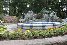 Decorative Fountains, Backyard, Patio, Light Effect, Rooftop, Terrace, Deck, Environment, Plants