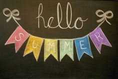 Hello Summer chalkboard