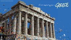 We are expecting you in Greece (Up Greek Tourism: The Parthenon)  by Charis Tsevis