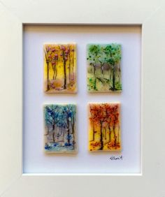 Four Seasons fused glass by kristen dukat by Glassi2ude on Etsy https://www.etsy.com/listing/270724709/four-seasons-fused-glass-by-kristen