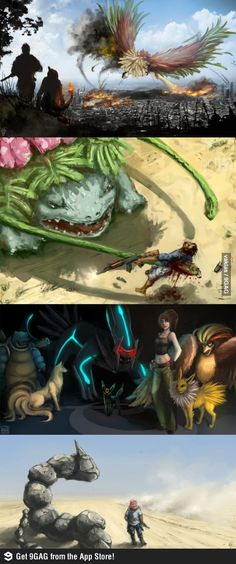 Pokemon in Real Life. The older I get the more terrifying my childhood seems...