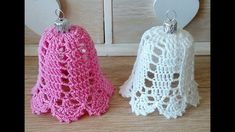 Jak zrobic dzwonek na szydełku Crochet Tree, Crochet Wreath, Crochet Angels, Crochet Ornaments, Crochet Snowflakes, Crochet Motif, Crochet Doilies, Crochet Flowers, Crochet Baby