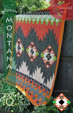 """Modern Montana Quilt Pattern is a PDF File:This Modern Quilt Pattern is traditionally pieced and the construction is row by row. Detailed instructions and graphics walk you through every row. You'll love how it all comes together!LAP size 62"""" x 76""""I designed this quilt for a special young man for his graduation. He told me that his dream was to live in a log cabin in Montana someday.Sounds pretty dreamy to me~Enjoy!After checko..."""