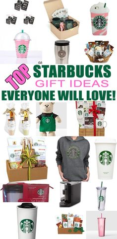 Find the best Starbucks presents for Starbucks lovers! Gift suggestions for Christmas Birthdays Teachers Co-workers Family and friends. Find gift baskets mugs cups & more! Cute and awesome Starbucks gift guide. Birthday Gift Baskets, Christmas Gift Baskets, Christmas Ideas, Starbucks Gift Baskets, Top Gifts, Best Gifts, Coworker Birthday Gifts, Birthday Presents, Starbucks Birthday