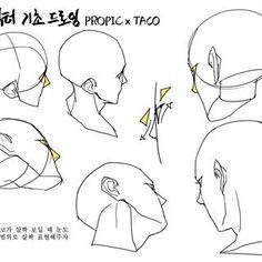 타코작가(@taco1704) • Instagram 사진 및 동영상 Anatomy Sketches, Anatomy Art, Drawing Sketches, Anatomy Drawing, Art Drawings, Manga Drawing Tutorials, Drawing Techniques, Art Tutorials, Drawing Heads