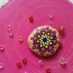 Colorful Mandala Stone as pendant
