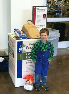 Volunteering can start early! Thanks to everyone who donated and collected food from our Greenwood Fred Meyer food drive!