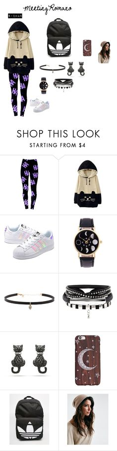 """""""Meeting Romano S-Chan"""" by rarelee ❤ liked on Polyvore featuring WithChic, adidas Originals, Carbon & Hyde and adidas"""