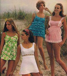 45 Ideas Baby Clothes Vintage Bathing Suits For 2019 60s And 70s Fashion, Mod Fashion, Vintage Fashion, Womens Fashion, 1960s Fashion Dress, 60s Inspired Fashion, 1960s Dresses, Seventies Fashion, Beach Fashion
