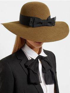Wide-Brim Rabbit-Felt Hat x Saint Laurent Wide-brim Hat, Beret, Saint Laurent Shirt, Stylish Hats, Love Hat, Hat Shop, Hat Hairstyles, Felt Hat, Hats For Women