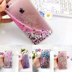 Quicksand Bling Dynamic Liquid Glitter Stars Case Cover For iPhone 4 5 6 6S Plus in Mobile Phones & Communication, Mobile Phone & PDA Accessories, Cases & Covers | eBay