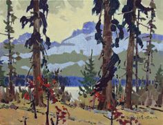 Jasper Counterpointacrylic painting 14 x 18 by Robert Gennavailable at Canada House Gallery Canadian Painters, Canadian Artists, Small Paintings, Landscape Paintings, Environment Design, Art Studies, Artist At Work, Impressionist, Painting Inspiration