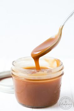 Homemade Caramel Sauce is made with only 3 simple ingredients and tastes better than store-bought!