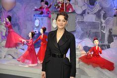 Marion Cotillard in Dior at Printemps in Paris.