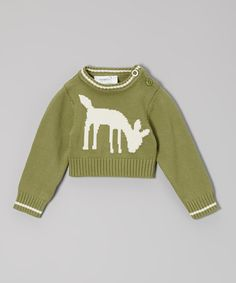 Take a look at this Origany Green & Beige Deer Organic Pullover - Infant, Toddler & Kids on zulily today!