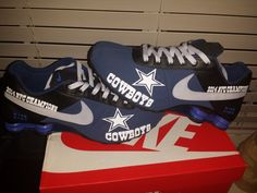 Custom Dallas Cowboys Nike Shox Deliver by ElevatedApparelPlus