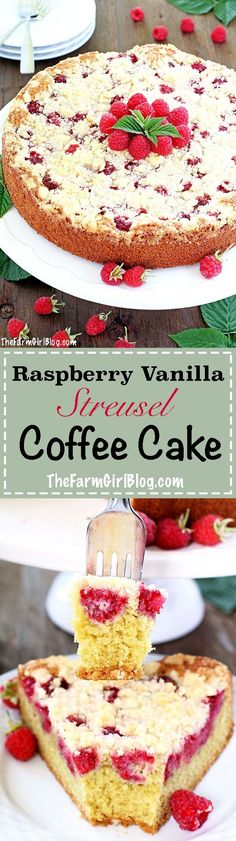 This incredible Raspberry Streusel Coffee Cake Recipe is the easiest cake you can ever make! Soft and moist cake sponge, loaded with homegrown juicy raspberries, and topped Strawberry Oreo Cheesecake, Oreo Cheesecake Recipes, Baked Strawberries, Raspberries, Raspberry Coffee Cakes, Zucchini Muffin Recipes, Baking Soda Baking Powder, Streusel Coffee Cake, Cake Platter