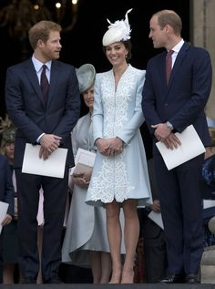 Prince William and Prince Harry Have the Duchess of Cambridge in Stitches at an Event in Honour of the Queen