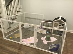 Our bunny hutch for Sassy & Lula-Belle!