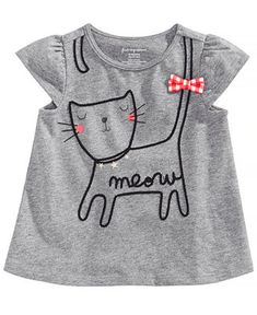 2b0162f0b First Impressions Graphic Cotton T-Shirt, Baby Girls, Created for Macy's &  Reviews - Shirts & Tees - Kids - Macy's
