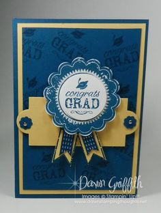 Whitney's Grad card front