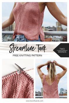 Streamline Tank Two Of Wands Free Knitting Pattern Freeknittingpattern , streamline tank two of wands kostenloses strickmuster kostenloses strickmuster , streamline tank two of wands modèle de tricot gratuit modèle de tricot gratuit Knitting Designs, Knitting Patterns Free, Knit Patterns, Stitch Patterns, Knitting Tutorials, Knitting Ideas, Tricot Simple, Diy Mode, Diy Couture