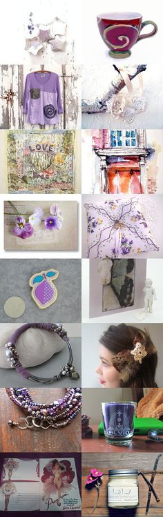 ~ Garden of  Purple Pansies ~ by Scarlett on Etsy--Pinned with TreasuryPin.com
