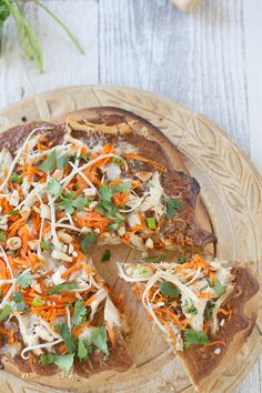 Thai Chicken Pizza, grain free