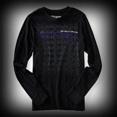 エアロポステール メンズ Tシャツ Aeropostale Long Sleeve Aero Repeated Logo Tee Tシャツ-アバクロ 通販 ショップ-【I.T.SHOP】 #ITShop