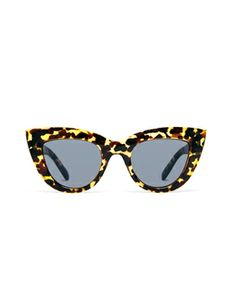 Image 2 of ASOS Flat Top Cat Eye Sunglasses