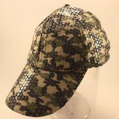 2acb4960981 Womens Green Camouflage Camo Hunt Fish Baseball Cap Hat Bling Sequins  Strapback  fashion  clothing  shoes  accessories  womensaccessories  hats  (ebay link)