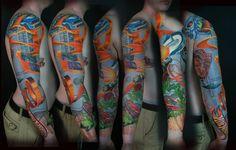 HOT WHEELS Tattoo Sleeve by Sean McCready at Tattoolicious Hawaii