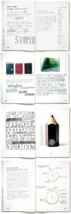 DandAD Annual Report 2001 | Art Director: Vince Frost | Hand-Letterer: Marion Deuchars | all 5,496 words were written in pencil