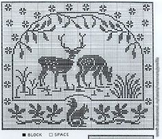 Szydełkomania: Bez fotografii - filet crochet and embroidery designs are wonderful resources for drawloom design!
