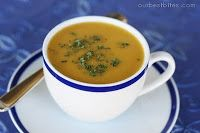 Butternut Squash Soup. I like this recipe as is but have also traded out the squash and potatoes for parsnips and turnips. I also added curry instead of brown sugar. Really great both ways.