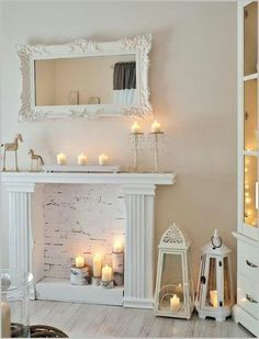 Shabby chic foe fireplace