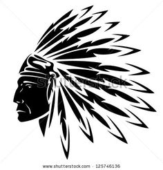 North American Indian chief - vector illustration by Cattallina, via ShutterStock