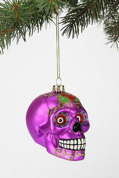Urban Outfitters - Skull ornament #christmastree