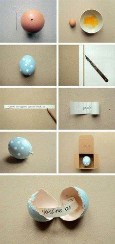 Maybe do this for Easter but have a bunch of eggs with notes in a cute basket. ❤❤❤❤