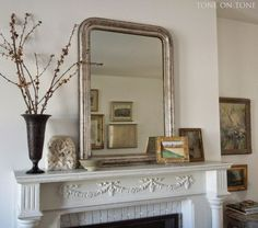 Fireplace Mantel Styling Made Easy + Sources For All Of It!