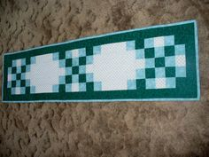 Double Irish Chain Table Runner Presidents Day Sale