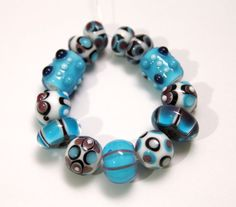Set of Artisan Lampwork Glass Beads by blancheandguy on Etsy