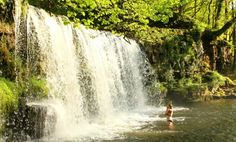 Wild swimming in the UK: 10 top spots - Lower Ddwli Falls Waterfall Woods, Brecon Beacons Camping Places, Go Camping, Places To Travel, Places To See, Camping Ideas, Camping Guide, Uk Campsites, Uk Destinations, Brecon Beacons