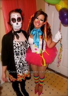My diy cute but scary clown costume happy halloween scary sexiest homemade clown costume sexy diy solutioingenieria Image collections